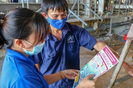 ĐVTN đơn vị hướng dẫn khai báo y tế cho công nhân lao động trong đơn vị