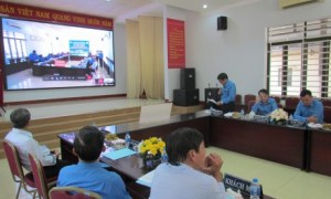 Chủ tịch CĐ TCT CS Đồng Nai phát biểu tại buổi phát động TCN trực tuyến