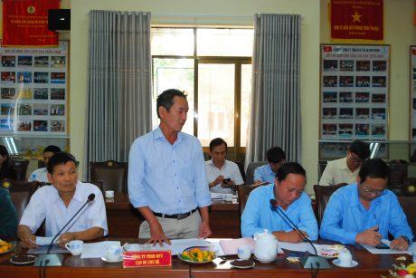 Lãnh đạo Cao su Chư Sê phát biểu tại hội nghị