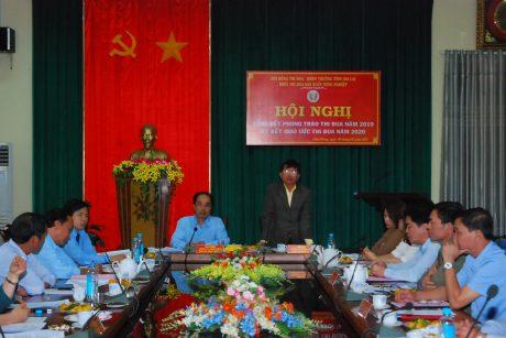 Ông Phạm Đình Luyến - TGĐ Cao su Chư Păh phát biểu khi đảm nhận chức danh khối trưởng năm 2020
