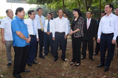 Đoàn công tác thăm vườn cây cao su bảo tồn tại Lô 9, Nông trường Dầu Giây, TCT Cao su Đồng Nai