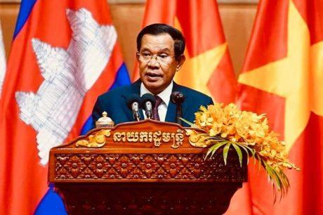 Thủ tướng Hun Sen phát biểu tại buổi gặp mặt.