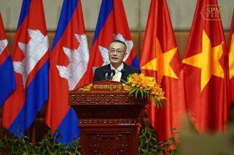 Đại sứ Việt Nam tại Campuchia Vũ Quang Minh phát biểu.