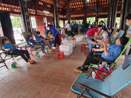 Lực lượng ĐVTN tham gia hiến máu nhân đạo