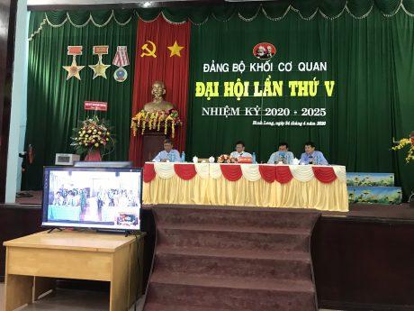 Đảng bộ Khối cơ quan tổ chức Đại hội trực tuyến