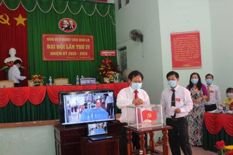 Đại biểu bỏ phiếu tại Đại hội