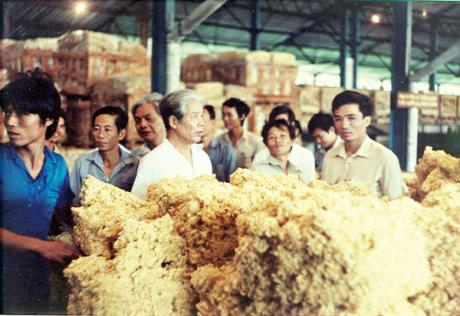Nguyên Tổng Bí thư Đỗ Mười thăm Công ty Cao su Đồng Nai tháng 8/1989, thời gian này đồng chí là Chủ tịch Hội đồng Bộ trưởng